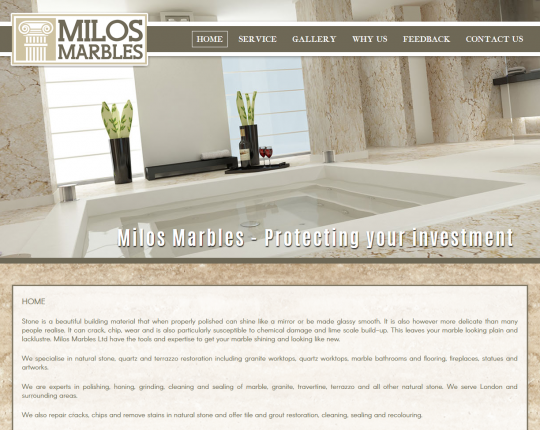milos marbles wordpress