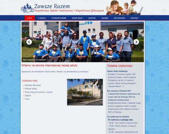 strony www wygląd strony głownej