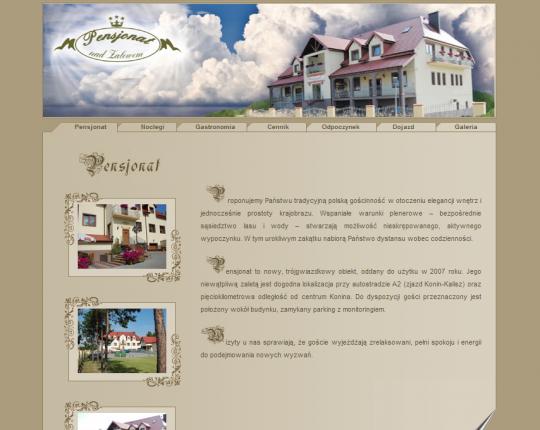 strona internetowa pensjonatu