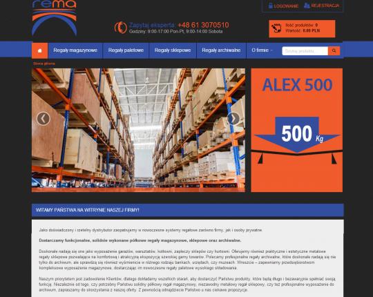 sklep internetowy z regałami rema