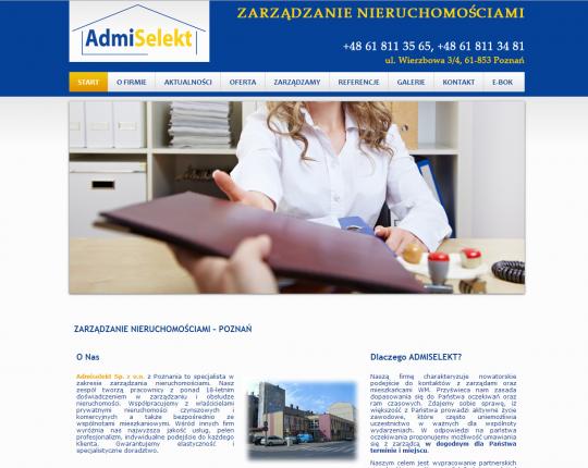 admiselekt strona www